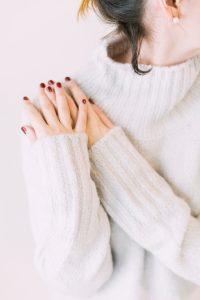 ands, jumper, red nails, girl
